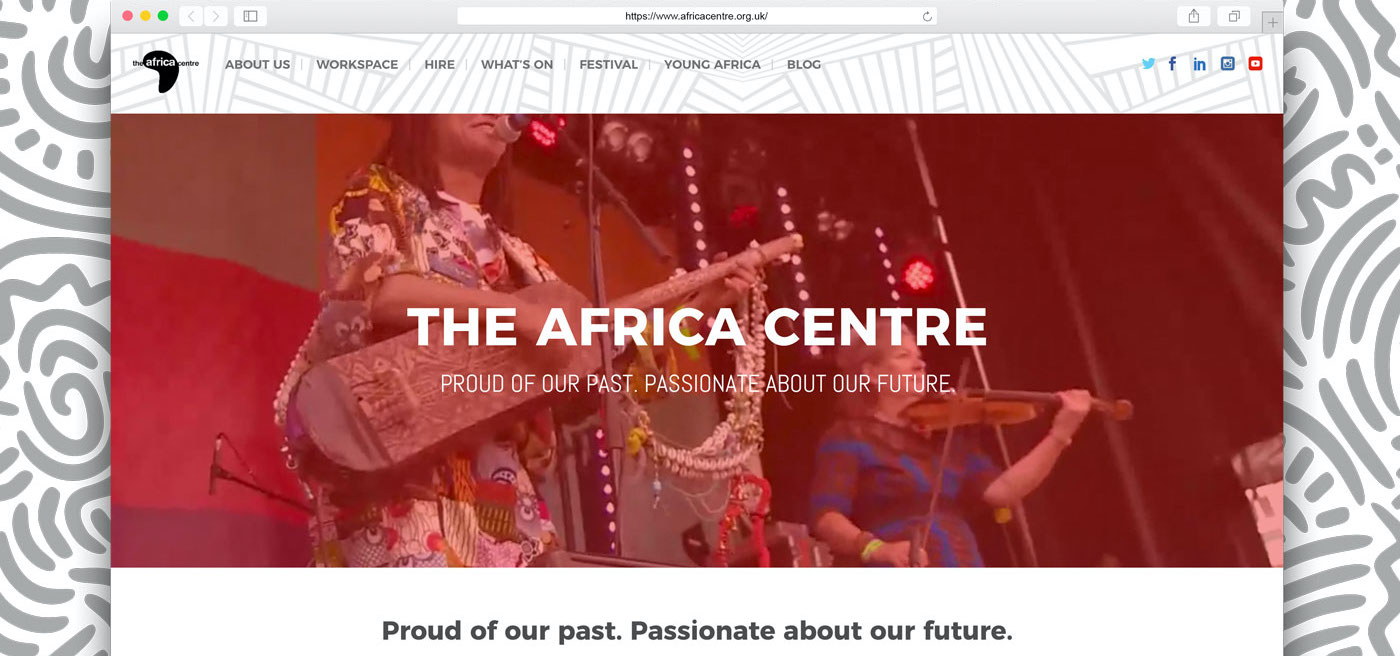 The Africa Centre New Website